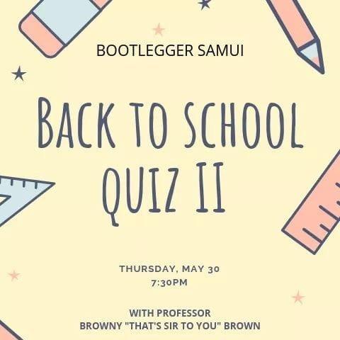 Back To School Quiz II