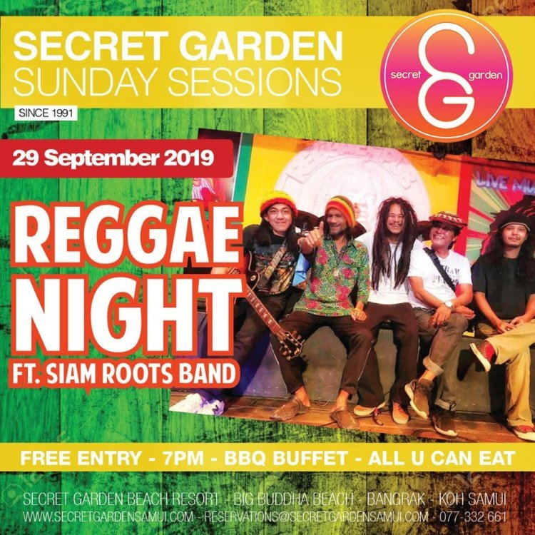 Secret Garden Sunday Sessions presents: Reggae Night