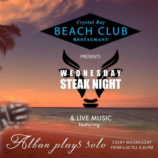Wednesday Steak night | Live Music by Alban and his guitar