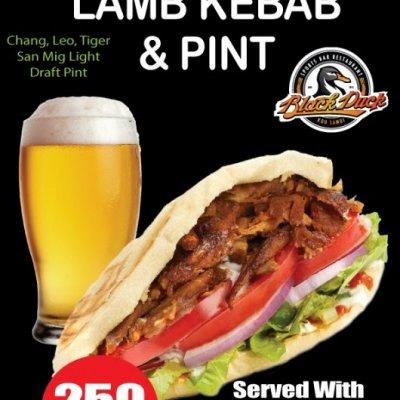 Sunday lamb kebab & pint!