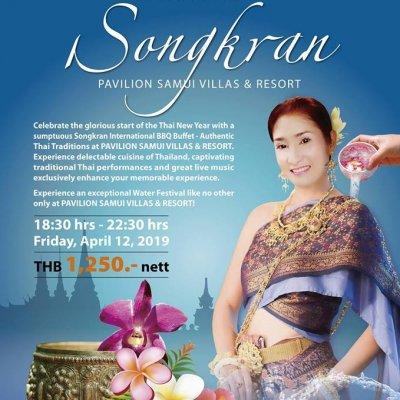 Songkran at Pavilion Samui Villas & Resort