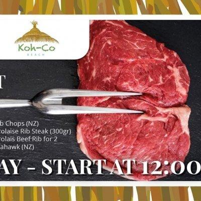 Jugoso Koh-Co Meat at Koh-Co Beach !