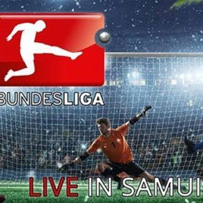 Bundesliga in Lamai (Samui) mit Stadion-Wurst und Kartoffelsalat
