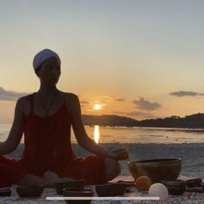 Sunset meditation with Tibetan Singing Bowls