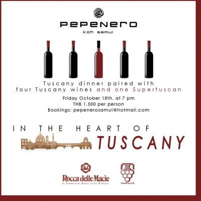 In the heart of Tuscany, wine dinner at Pepenero