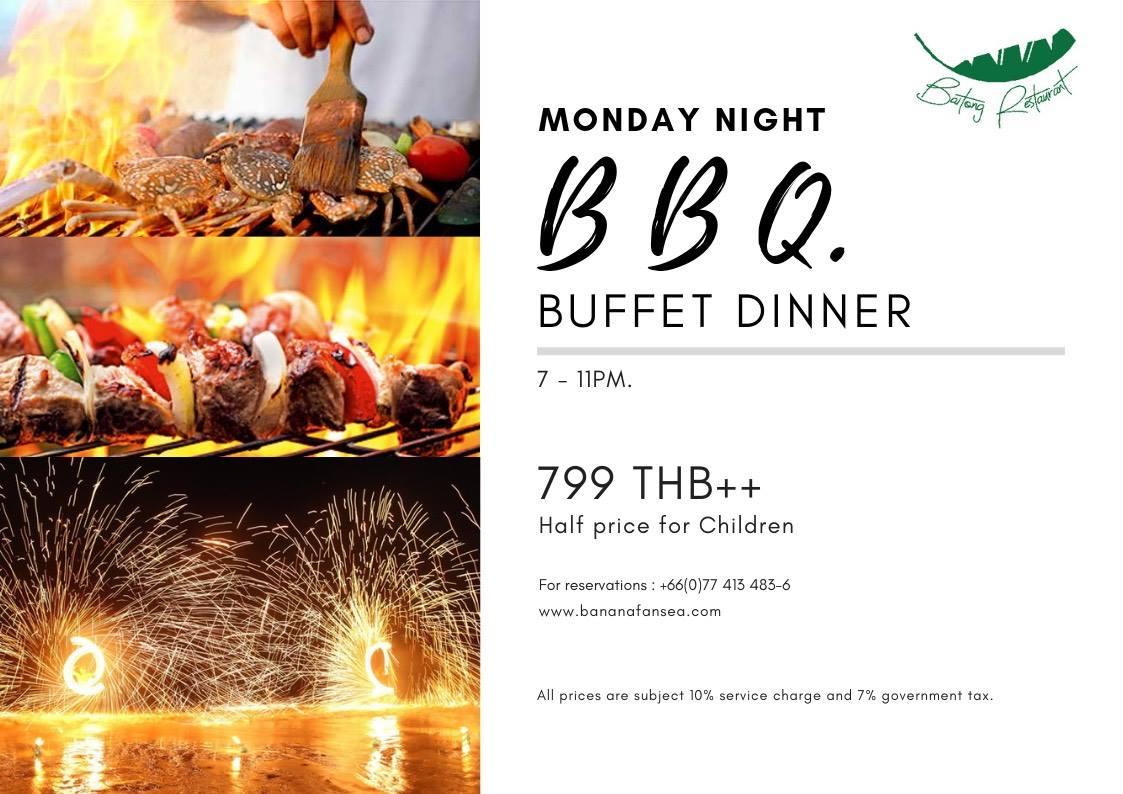 Monday Night BBQ.Buffet Dinner