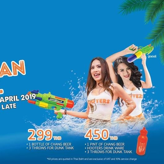 Songkran at Hooters Samui