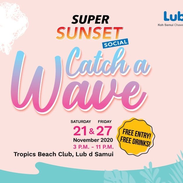 Super Sunset Social : Catch a Wave