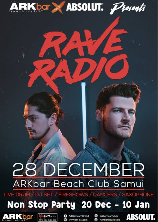 Beach party with Rave Radio