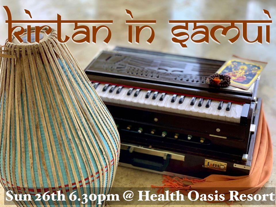 Kirtan chanting at Health Oasis