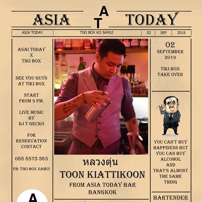 Asia Today Bar Take Over