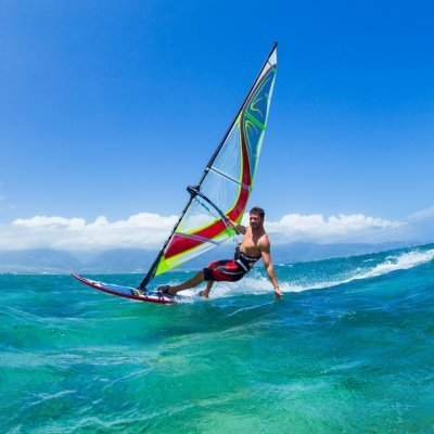 Windsurfing. Catch the wind and rush!