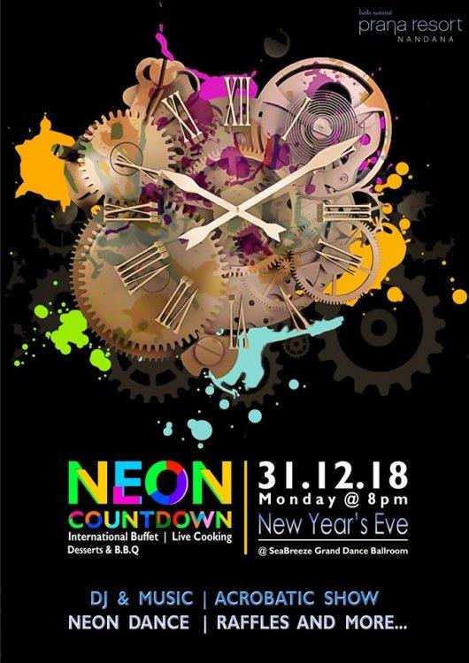 Neon Countdown at Prana Resort Samui