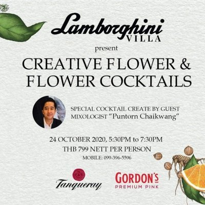 Lamborghini Villa Creative Flower Cocktails