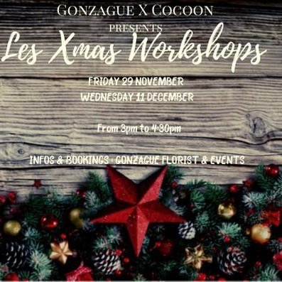 Christmas Wreath Worhshop by Gonzague & Cocoon