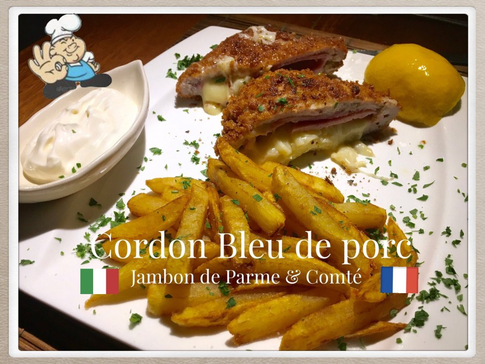 FRENCH CORDON BLEU with Italian touch .