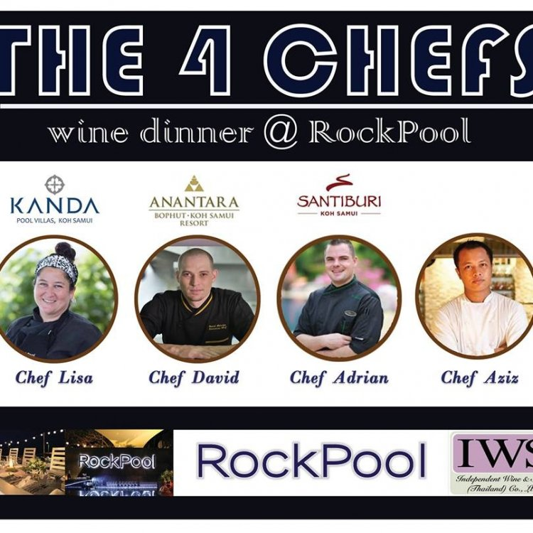 The 4 Chefs wine dinner