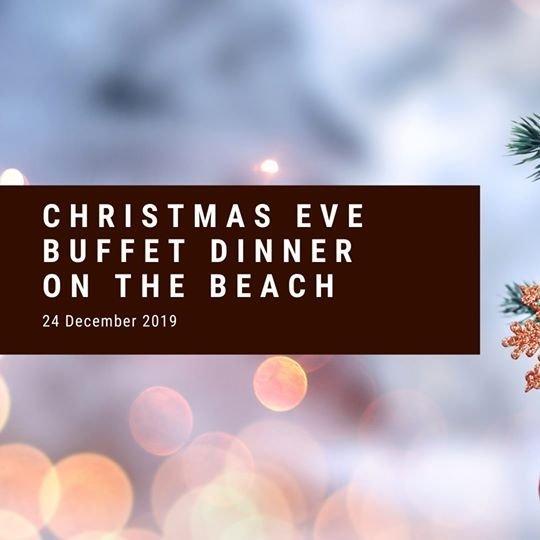 Christmas Eve buffet dinner on the beach