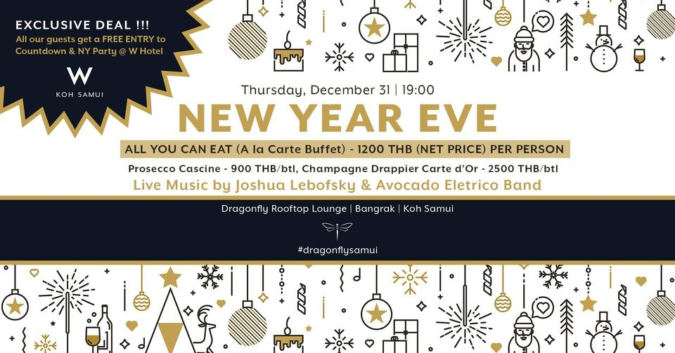 New Year Eve Festive Dinner @ Dragonfly Samui