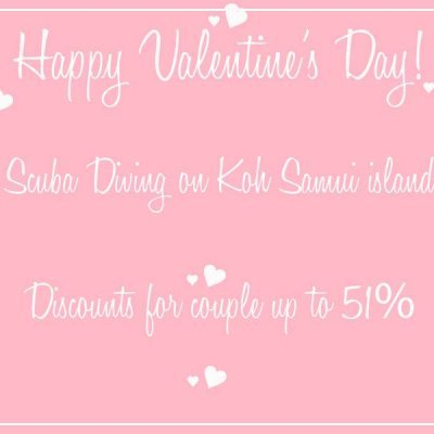 Happy Valentine's Day Discounts up to 51% - Scuba Diving on Koh Samui