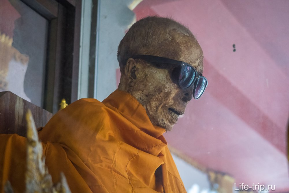 See a mummified monk