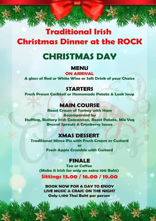 Traditional Christmas Dinner at The Shamrock