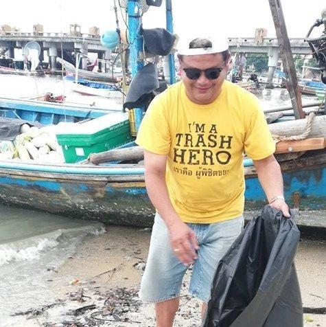 River cleanup. Jaroenthong Muay Thai Chaweng