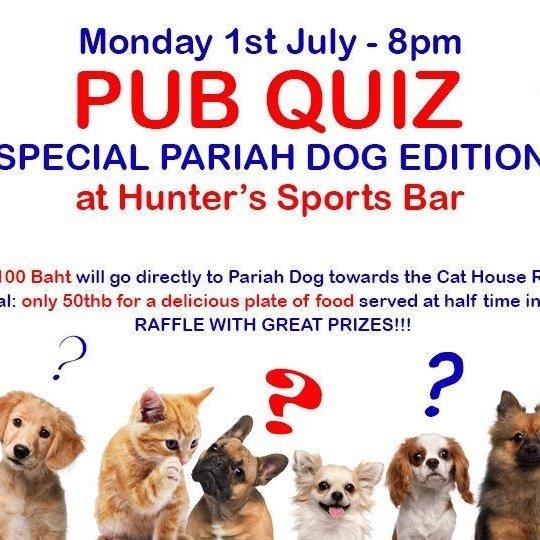 Hunters Pub Quiz Pariah Dog Edition