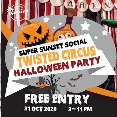 Super Sunset Social – Twisted Circus Halloween Party
