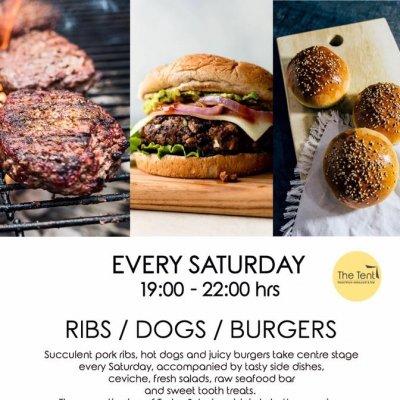 Ribs/Dogs/Burgers