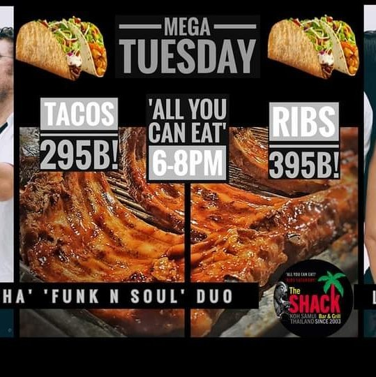 'All You Can Eat' Tacos & Ribs & Live Music at The Shack