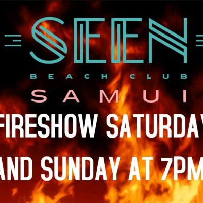Fireshow at SEEN beach club
