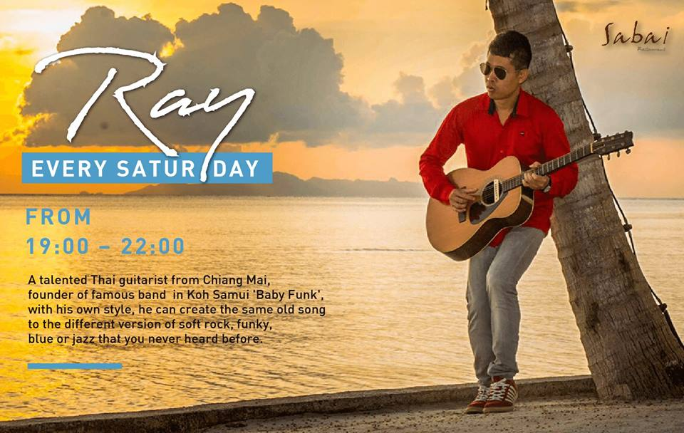 Chill out on the beach with Ray
