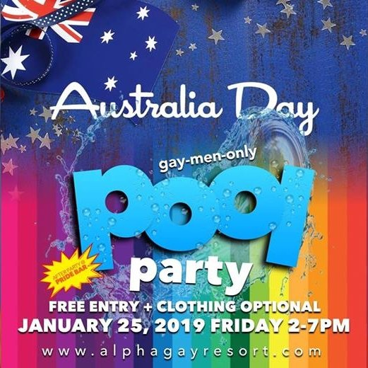Australia Day Pool Foam Party
