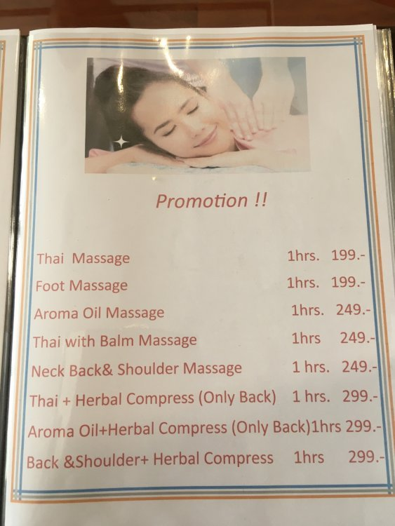 Special price for massage