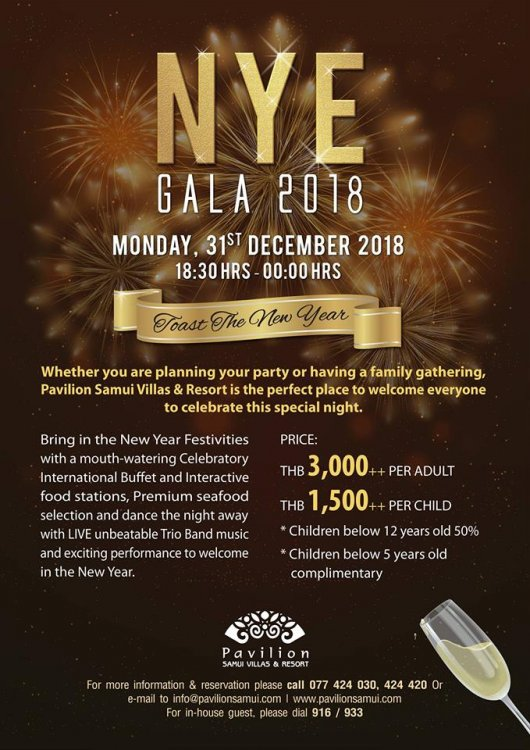 New Year Eve Gala Dinner 2018