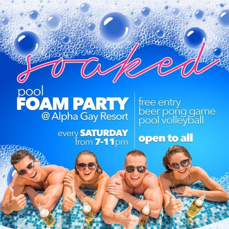 Pool foam party!