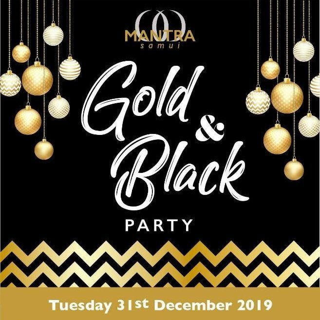 Gold & Black New Year Party