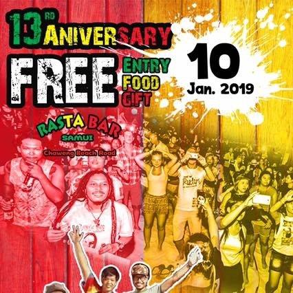 13rd Anniversary Rasta Bar Samui