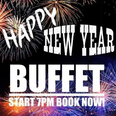New Years Party and Exclusive Buffet!