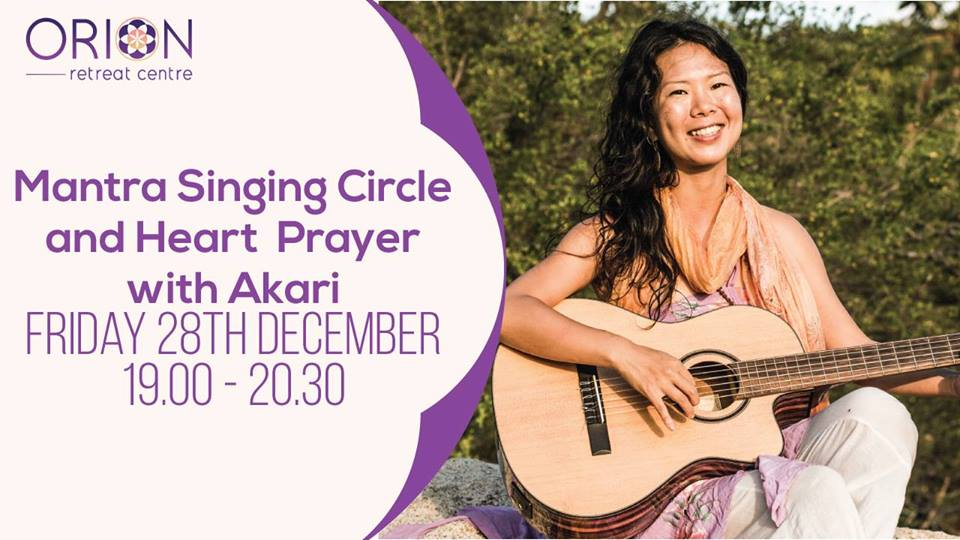 Mantra singing circle and heart prayer