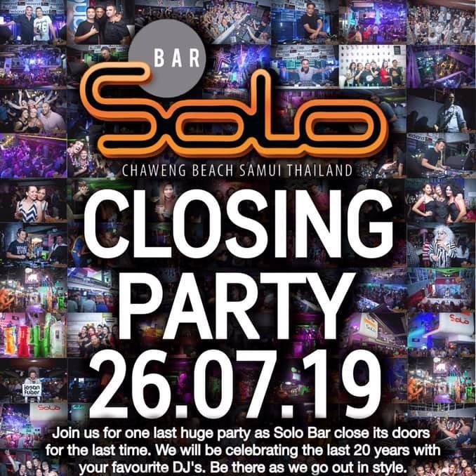 Solo Closing Party