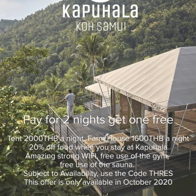 Pay for 2 night get one free.