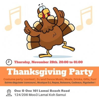 Thinksgiving Party in 101 Lamai