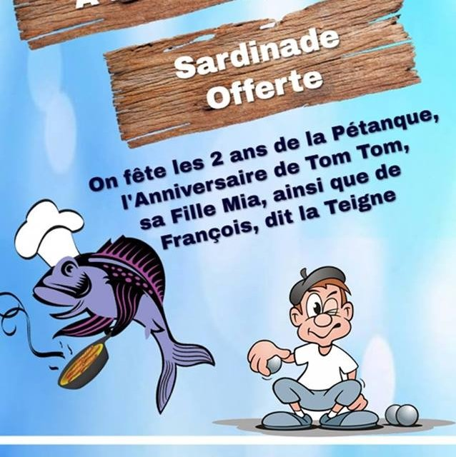 Les 2 Ans De La Pétanque Sardinade Offerte 21 April 2019