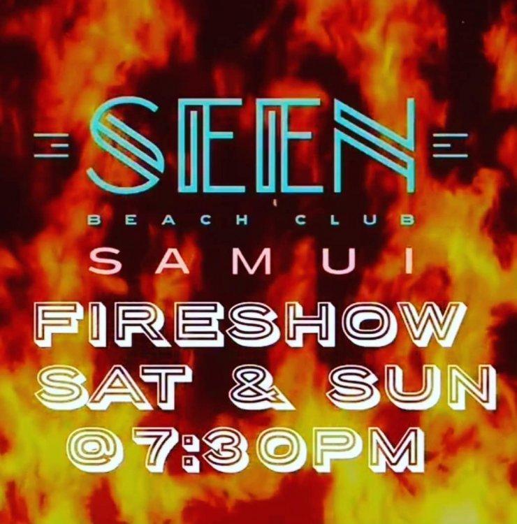 Fireshow at SEEN beach club