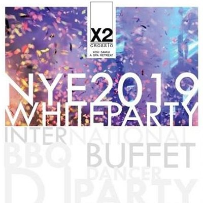 X2 New Year Eve Gala Dinner 2019 White Party