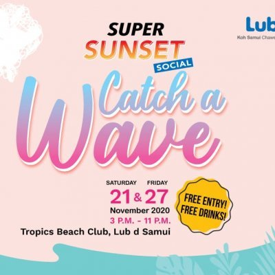 Super Sunset Social : Catch a Wave