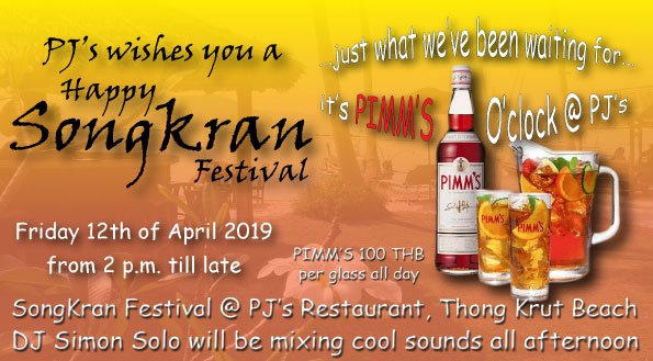 Join us for a Songkran warm up party - it's Pimm's o'clock