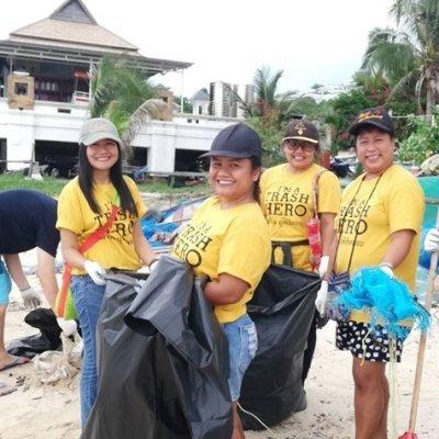 Saturday: Bang Makham beach cleaning